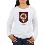 Nichols Clan Crest Tartan Women's Long Sleeve T-Sh