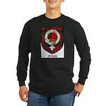 Nichols Clan Crest Tartan Long Sleeve Dark T-Shirt