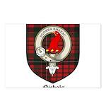 Nichols Clan Crest Tartan Postcards (Package of 8)