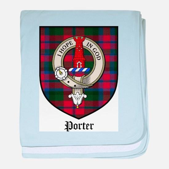 Porter Clan Crest Tartan baby blanket