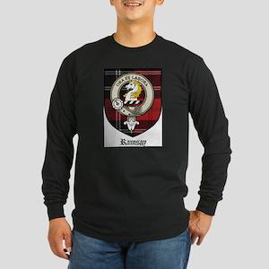 Ramsay Clan Crest Tartan Long Sleeve Dark T-Shirt