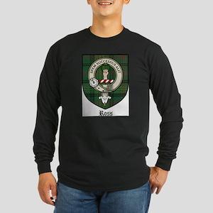 Ross Clan Crest Tartan Long Sleeve Dark T-Shirt
