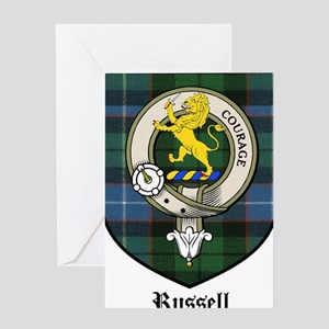 Russell Clan Crest Tartan Greeting Card