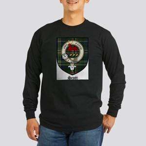 Scott Clan Crest Tartan Long Sleeve Dark T-Shirt