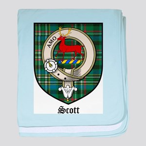 Scott Clan Crest Tartan baby blanket