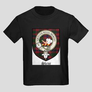 Skene Clan Crest Tartan Kids Dark T-Shirt