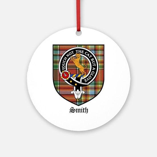 Smith Clan Crest Tartan Ornament (Round)