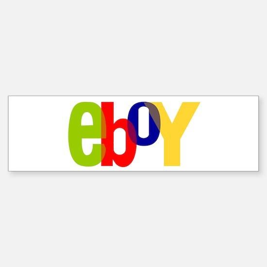 e boy's Bumper Bumper Bumper Sticker