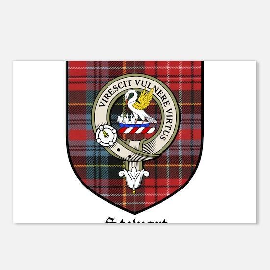 Stewart Clan Crest Tartan Postcards (Package of 8)
