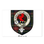 Stuart Clan Crest Tartan Postcards (Package of 8)