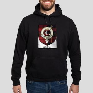 Wallace Clan Crest Tartan Hoodie (dark)