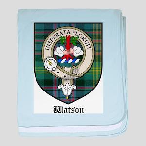 Watson Clan Crest Tartan baby blanket