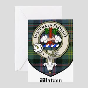 Watson Clan Crest Tartan Greeting Card