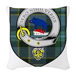 Wier Clan Crest Tartan Woven Throw Pillow
