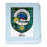 Wier Clan Crest Tartan baby blanket