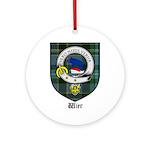 Wier Clan Crest Tartan Ornament (Round)