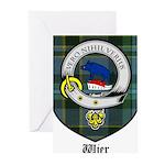 Wier Clan Crest Tartan Greeting Cards (Pk of 10)