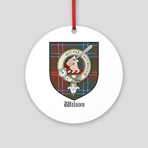 Wilson Clan Crest Tartan Ornament (Round)