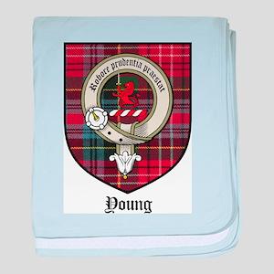 Young Clan Crest Tartan baby blanket