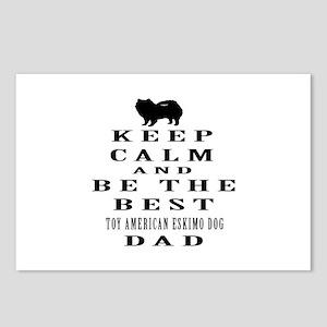 Toy American Eskimo Dog Dad Designs Postcards (Pac