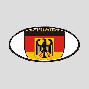 Deutsch Flag Crest Shield Patches
