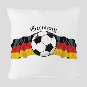 GermanySoccer Woven Throw Pillow