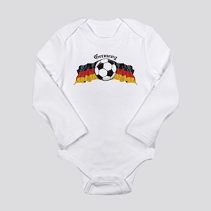 GermanySoccer Long Sleeve Infant Bodysuit