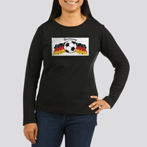 GermanySoccer Women's Long Sleeve Dark T-Shirt