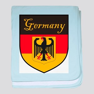 Germany Flag Crest Shield baby blanket