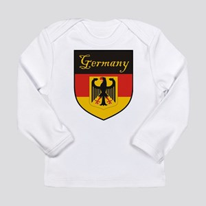 Germany Flag Crest Shield Long Sleeve Infant T-Shi