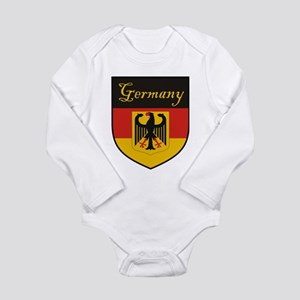 Germany Flag Crest Shield Long Sleeve Infant Bodys