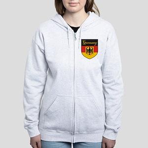 Germany Flag Crest Shield Women's Zip Hoodie