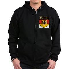 Germany Flag Crest Shield Zip Hoodie (dark)