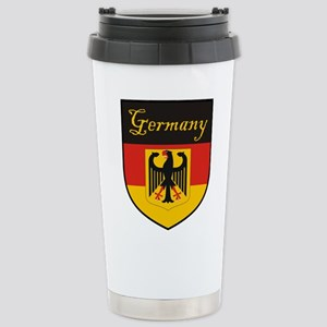 Germany Flag Crest Shield Stainless Steel Travel M