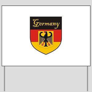 Germany Flag Crest Shield Yard Sign