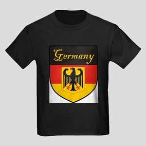 Germany Flag Crest Shield Kids Dark T-Shirt
