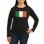 Irish Flag / Ireland Flag Women's Long Sleeve Dark