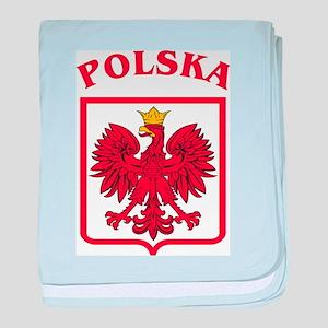 Polskaeagleshield baby blanket