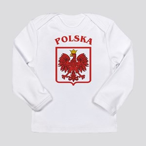 Polskaeagleshield Long Sleeve Infant T-Shirt