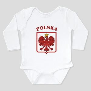 Polskaeagleshield Long Sleeve Infant Bodysuit