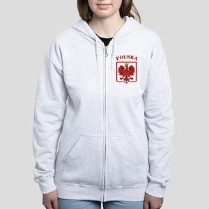Polskaeagleshield Women's Zip Hoodie