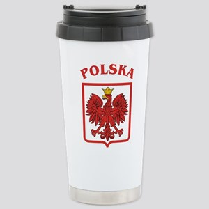 Polskaeagleshield Stainless Steel Travel Mug