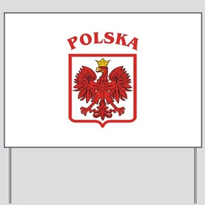 Polskaeagleshield Yard Sign