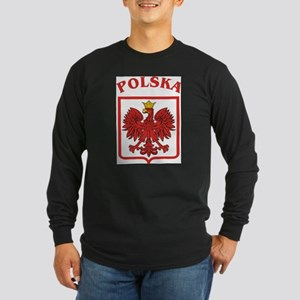 Polskaeagleshield Long Sleeve Dark T-Shirt
