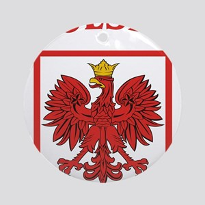 Polskaeagleshield Ornament (Round)