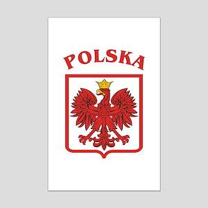 Polskaeagleshield Mini Poster Print