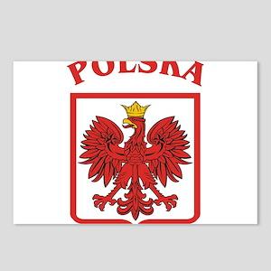 Polskaeagleshield.jpg Postcards (Package of 8)