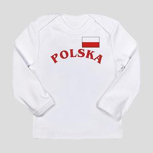Polska-withflag Long Sleeve Infant T-Shirt