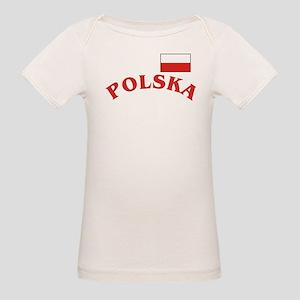 Polska-withflag Organic Baby T-Shirt