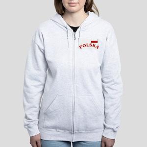 Polska-withflag Women's Zip Hoodie